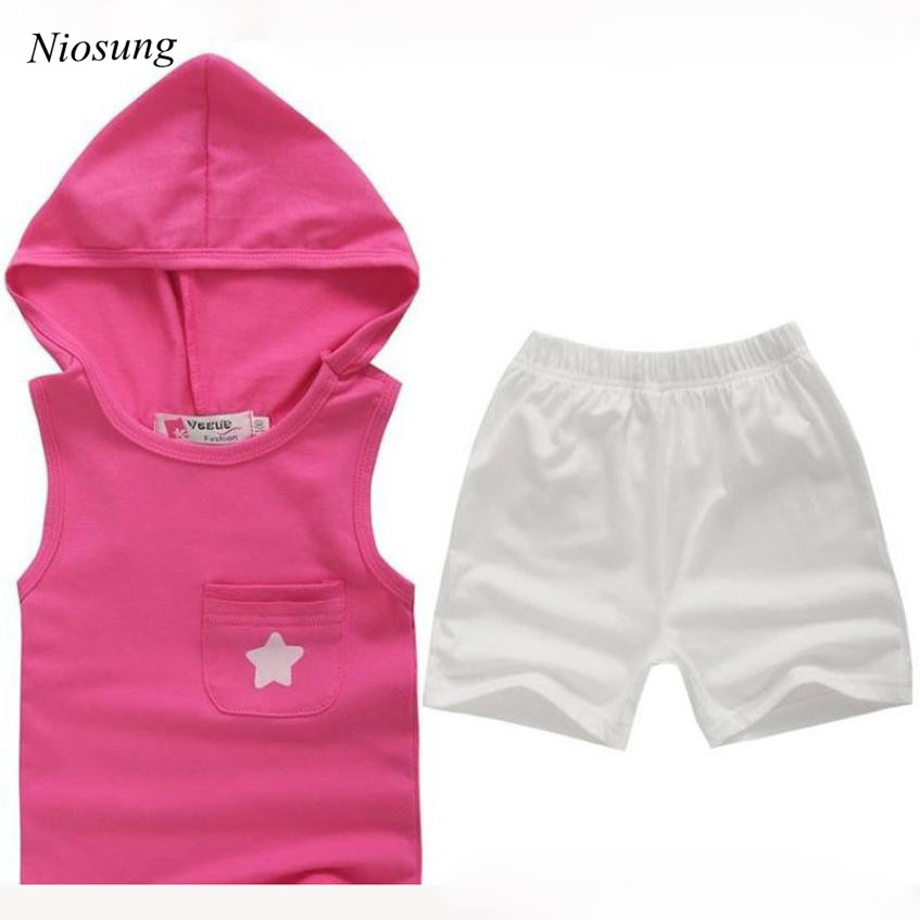 New Children Girl boy clothing Solid Sleeve tees cotton Tops O Neck T Shirt+ Shorts Kids Clothes Set wholesale v soft solid kids boys t shirt candy color long sleeve baby girls t shirts cotton children s t shirt o neck tee tops boy clothes