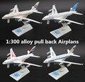 1:300 aleación tire volver Airplans, Airbus A380 modelo de simulación de alta, fundición de metales, juguete Airplans, musical y intermitente, envío libre