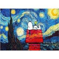 Malowanie numerami DIY Dropshipping 40x50 50x65cm Snoopy pod gwiazdami płótno z krajobrazem dekoracje ślubne prezent zdjęcie artystyczne w Malarstwo i kaligrafia od Dom i ogród na