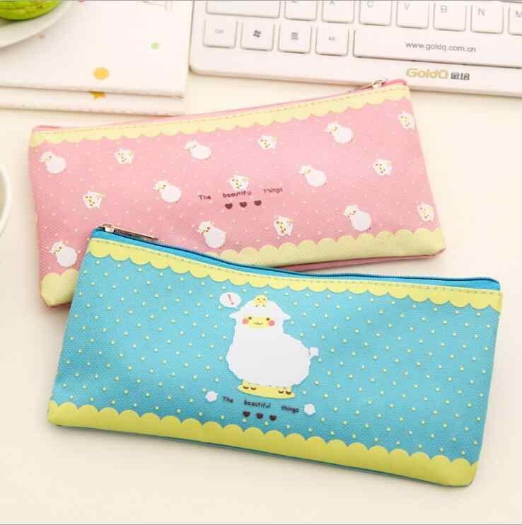 1 Pieces New Lovely Lamb Oxford Cute Stationary Case Cartoon Kawaii School Pen Pencil Bag Sheep Korean Student Children