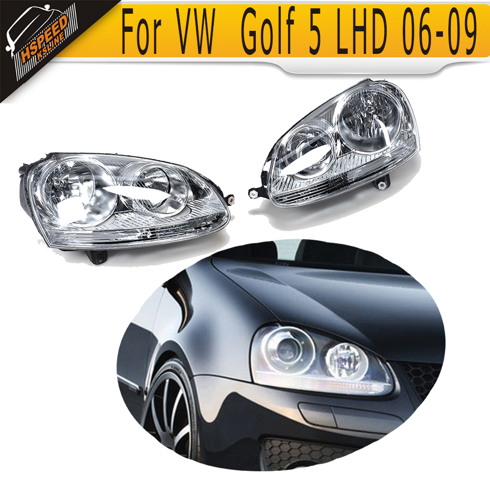 New Arrival LHD ABS Front Headlight Auto Car Front Head Lamp For VW MK5 Golf V LHD 2006-2009 lhd