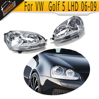 New Arrival LHD ABS Front Headlight Auto Car Front Head Lamp For VW MK5 Golf V LHD 2006 2009