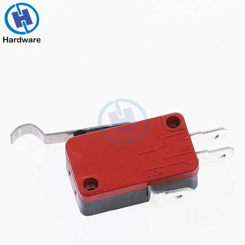 1 Pcs Micro R Hooked Lever Arm Limit Switch SPDT Normally Open/Close V-154-1C25