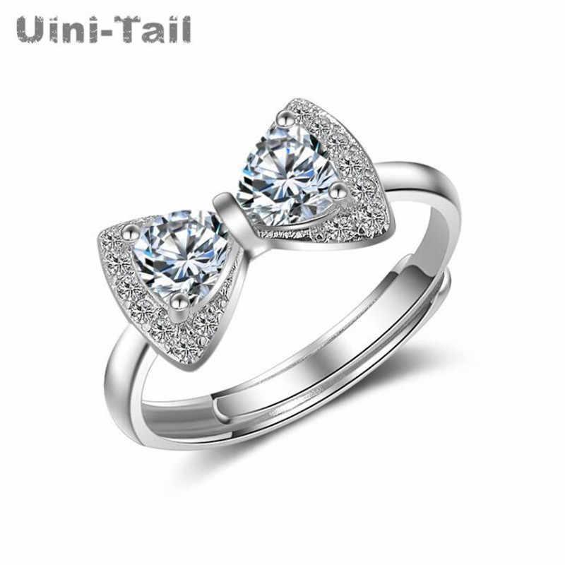 Uini-זנב חם חדש 925 כסף סטרלינג אופנה קשת מיקרו-הבלעה פתיחת טבעת פראי טמפרמנט אופנה מגמה גבוהה איכות GN295
