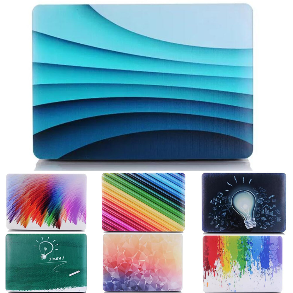 Color Gradient Marble Case for apple Macbook Air 11 13 Pro 13 15 Retina Matte Hard Laptop Protective Marble case for mac Price $18.92
