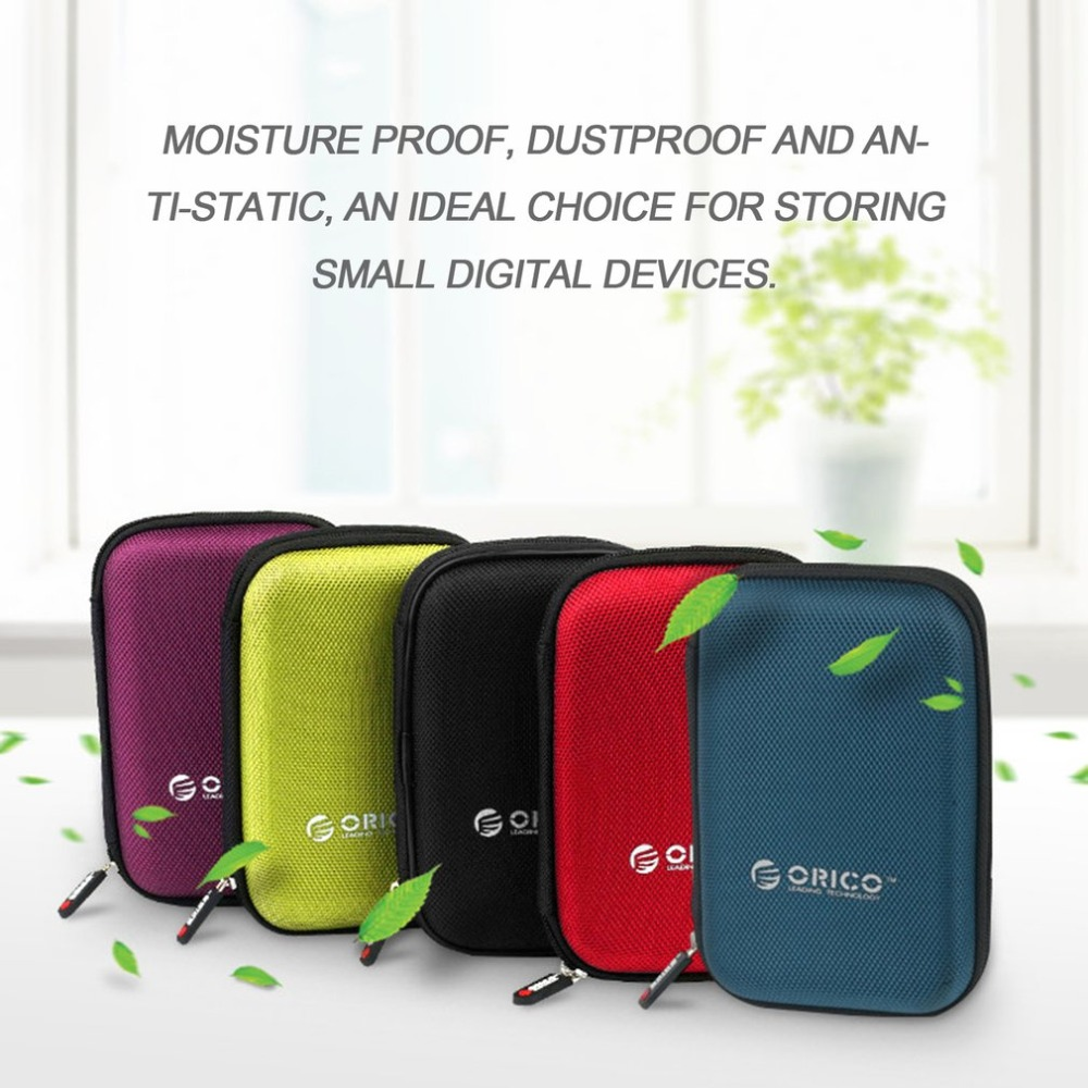 ORICO PHD-25 2.5 inch Portable External Hard Drive Protective Bag Dual Buffer Layer Shockproof Digital Device Storage Case