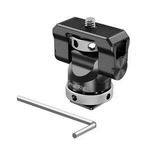Image 2 - Soporte de cámara pequeña EVF giratorio, 360 grados e inclinación, montaje de Monitor de 140 grados con adaptador de micrófono para Flash de zapata fría, 2346