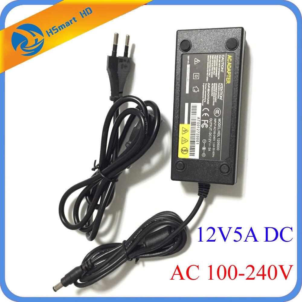 Sécurité UK/US/EU/AU 12 Volts 5 Amp Puissance Adaptateur D'alimentation pour CCTV DVR Systèmes de Sécurité Caméras (sortie: DC 12 V 5A)