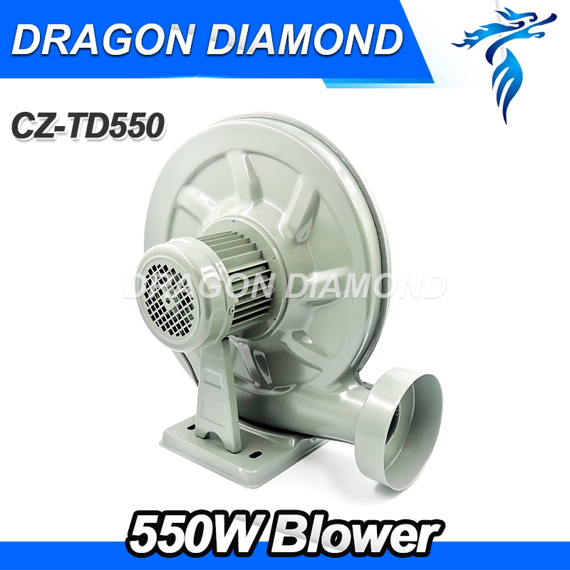 550W Blower Exhaust Dust and Smoke Blower Fan 220V Centrifugal Blower Low Noise For Laser Engraving Cutting Machine & CNC Router 330w 1 52a fan dust exhaust electric blower inflatable model industry centrifugal blower air blower 150flj7 220v