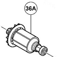مجموعة محرك وترس 14.4 فولت الدوار لشركة هيتاشي DV14DSDL-في ملحقات أدوات الطاقة من أدوات على