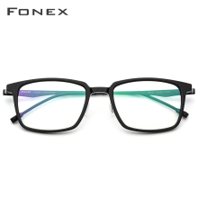 FONEX Acetate Optical Glasses Frame Men Square Prescription Eyeglasses 2019 Commerce Myopia Spectacles Male Screwless Eyewear