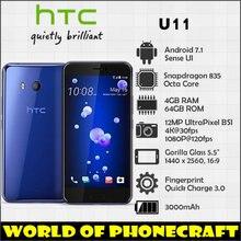 Htc U11 Snapdragon 835 Octa Core 4 Гб оперативная память 64 Встроенная 12MP камера NFC Nano одной SIM быстрое зарядное устройство 3,0 смартфон