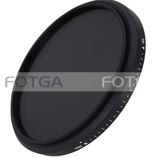 FOTGA Slim Fader Variable Adjustable Variable ND filter ND2 to ND400 43~86mm 52 58 67 72 77 mm