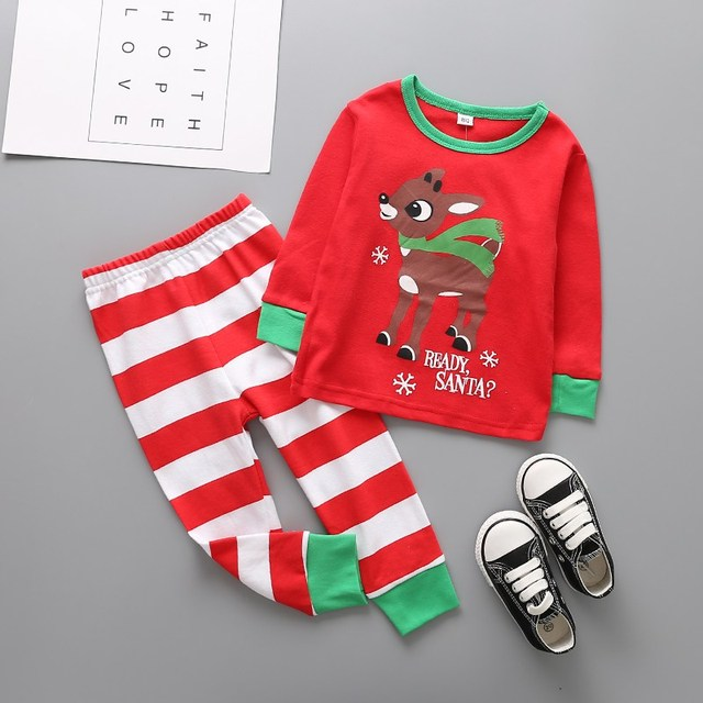 7bd687872 US $5.81 24% OFF|Aliexpress.com : Buy Kids Boys Christmas Clothes Toddler  Long Sleeve Top + Pants 2pcs Suits Boutique Casual Clothing Set For 1 6T ...