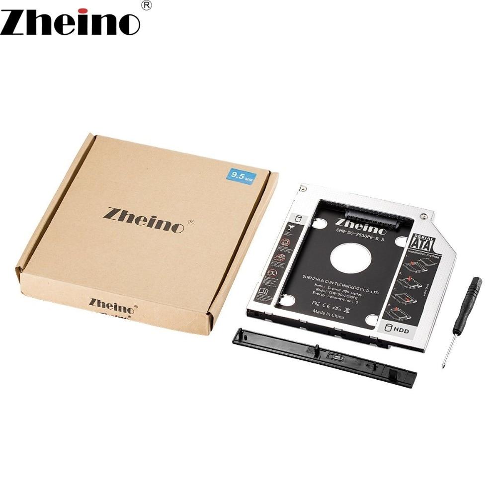 ①Zheino Aluminum 9 5mm 2nd HDD SSD Caddy 2 5 SATA to SATA