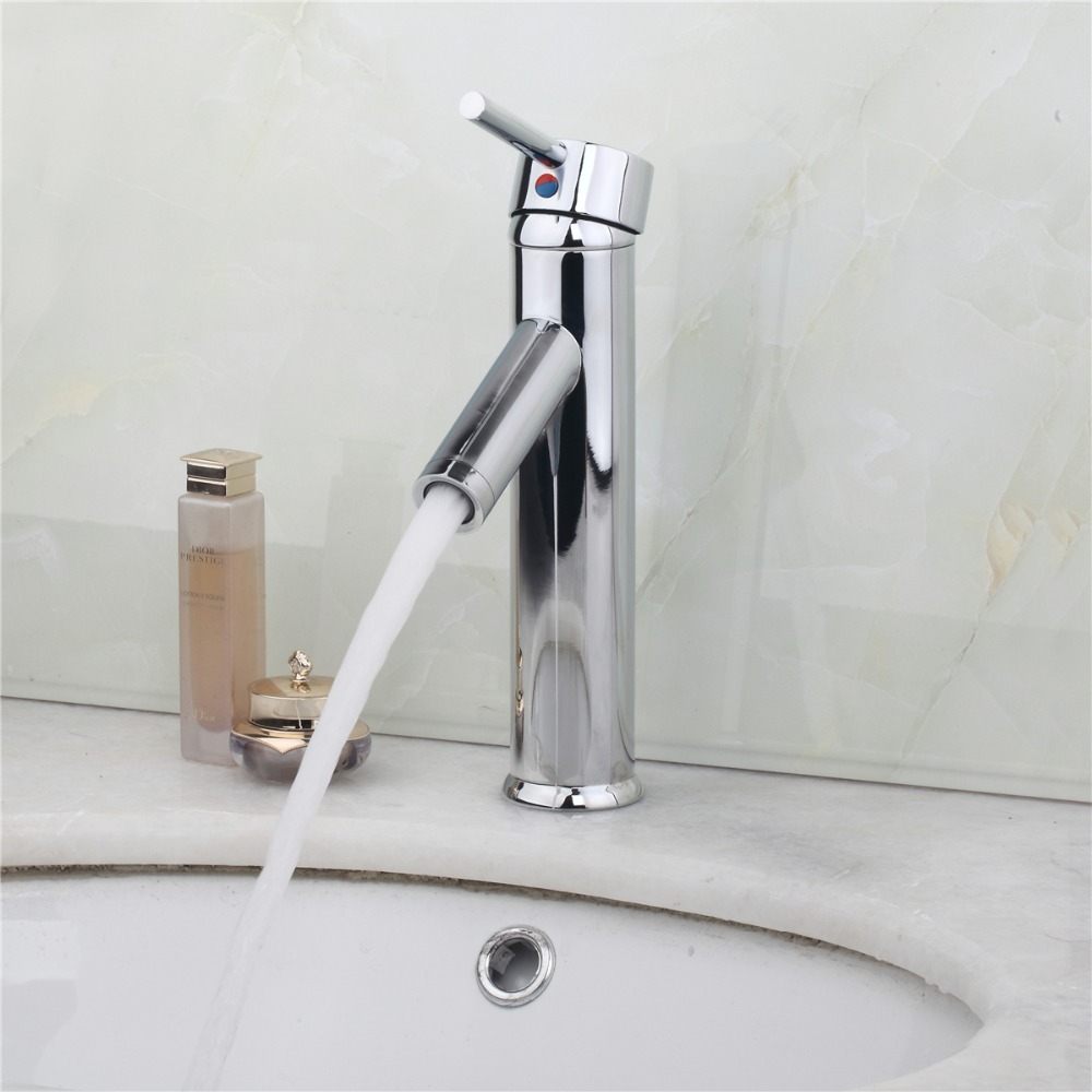 Unique Desing Single Handle Waterfall Basin Faucet Tap Deck Mounted Brass Hot and Cold Bathroom Faucet