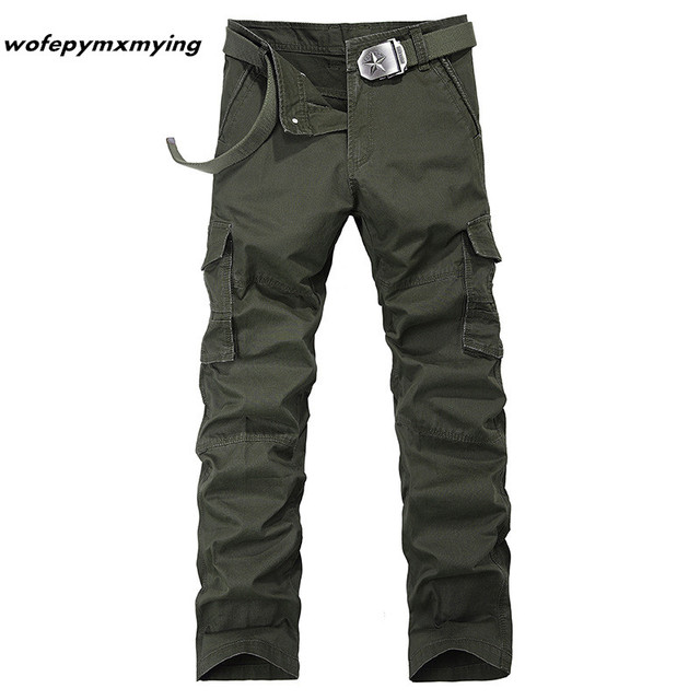 efdffcb06ac Hot New Casual Military Army mens camo cargo pants high quality cotton  tactical pants Brand 2016
