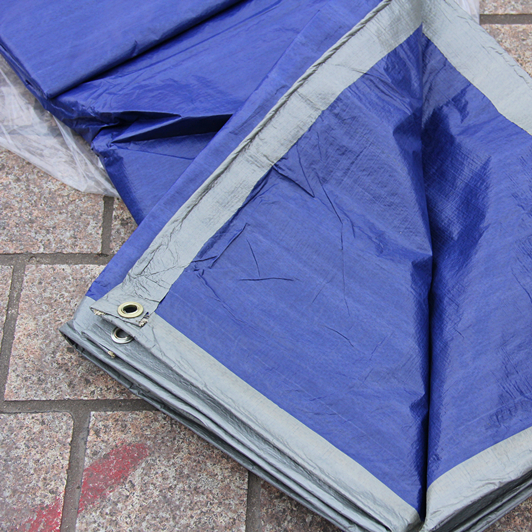 thin and light 100g/sqm 8mx10m blue and gray tarpaulin, short time waterproof canvas. indoor dust cover.dust-proof.