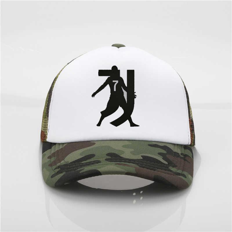 Модная шляпа cr7 Роналду печати бейсболка Для мужчин wo лето Кепки Молодежный