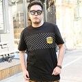 Novo 2016 Moda Mens T Camisas Polka Dot Impresso Hip Hop Camiseta Homens macho Exercício Jersey Hombre Camisetas 3XL 4XL 5XL 188