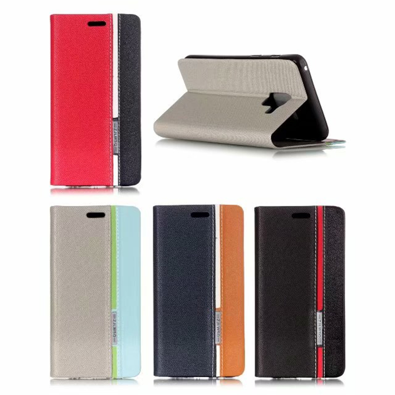 Flip Cover Stand For Samsung Galaxy A5 2018 Case Capinhas Sail Series Wallet PU Leather Mobile Phone Bags For Samsung A5 2018