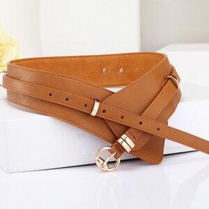 Image 2 - Brands Genuine Leather Cowskin Belts for Women Alloy Buckle Leather Buckle womens waist belt girdle crony bandwidth  cummerbund