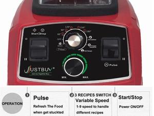 Image 2 - BPA Libero del Grado Commerciale Timer Blender Mixer Heavy Duty Automatico di Frutta Spremiagrumi Robot da Cucina Frantoio di Ghiaccio Frullati 2200W