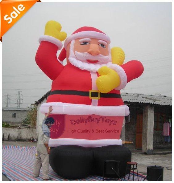 DAD-09 Новогодние Надувные Санта-Клауса 5mH + Ремкомплекты + Вентилятор 100% положительных отзывов Заводская цена