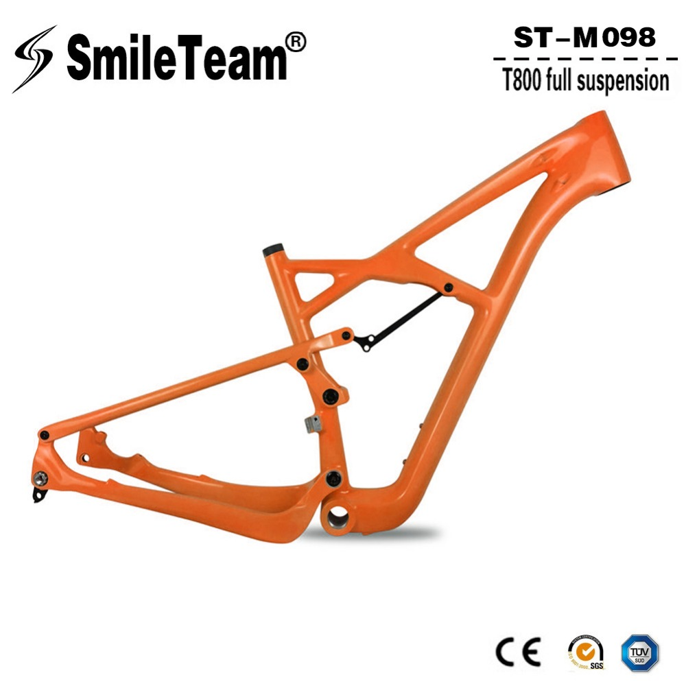 Smileteam 29er Full Suspension Carbon Frame, Carbon MTB Frame 29 MTB Carbon Frame 29er With OEM Painting Size 15/17/19 '' smileteam new 27 5er 650b full carbon suspension frame 27 5er carbon frame 650b mtb frame ud carbon bicycle frame