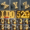 LED Marquee Sign Alphabet Light 22CM 3D Lamp 26 White Letter Indoor Wall Hanging Night Light