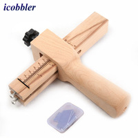 1Pcs Belt Cutter DIY Leather Craft Tools Pimp Line of Leather Wood Adjustable Strip Strap Cutter Hand Cutting Tools Belt Cutter