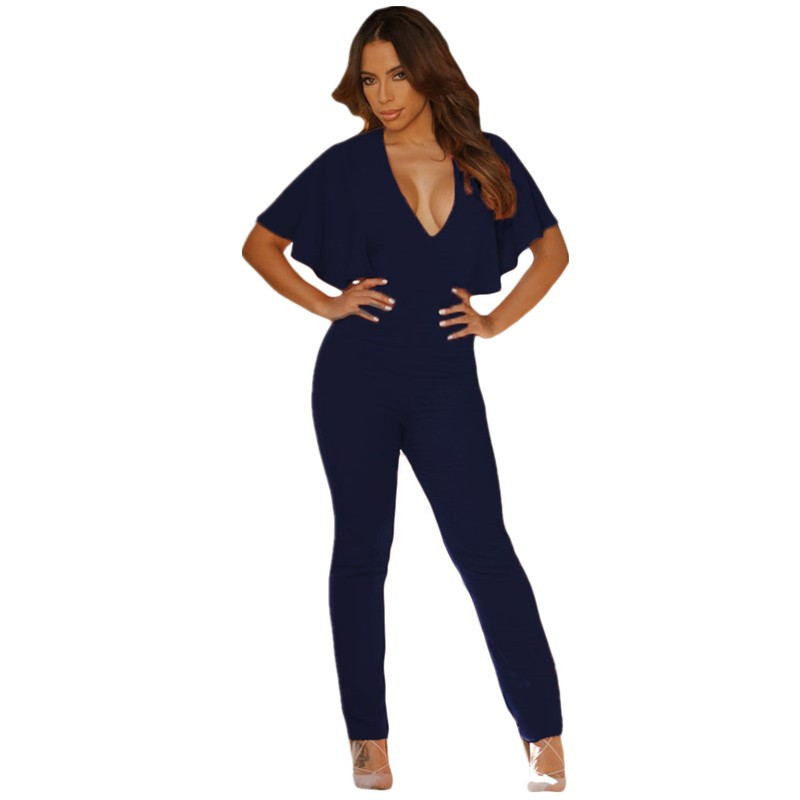 Blue-Frill-Cape-Sleeve-Open-Back-Jumpsuit-LC64032-5