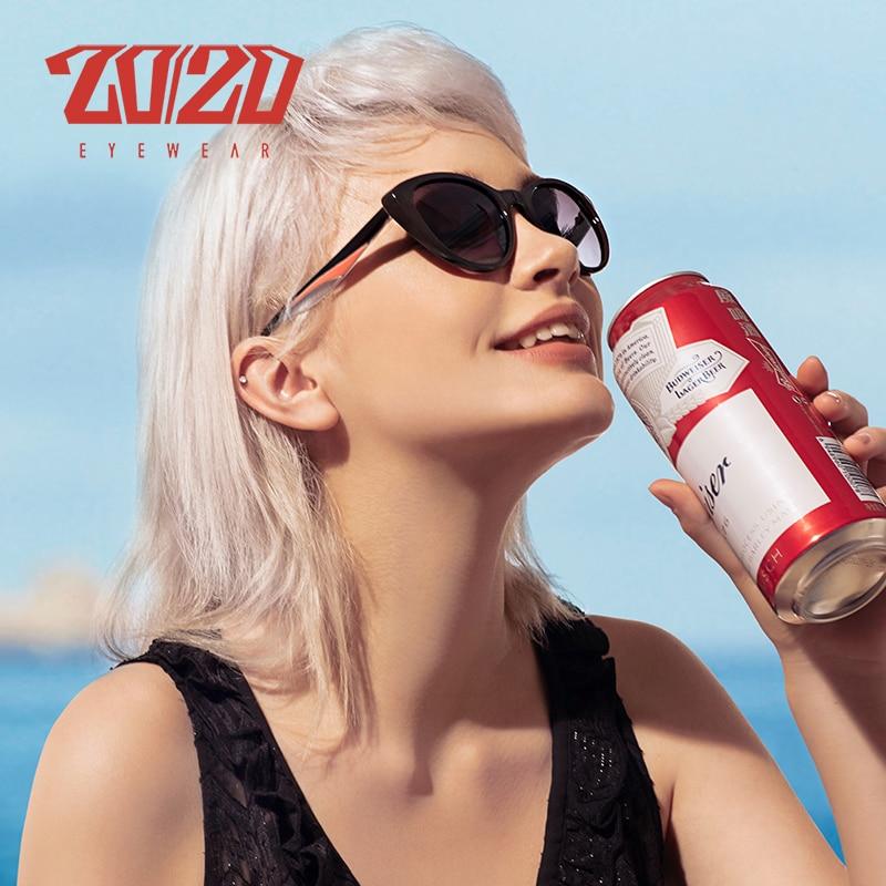 20/20 Marke Design Frauen Katze Auge Polarisierte Sonnenbrille Weibliche Sonnenbrille Retro Style Shades Brille Oculos Feminino Pl352