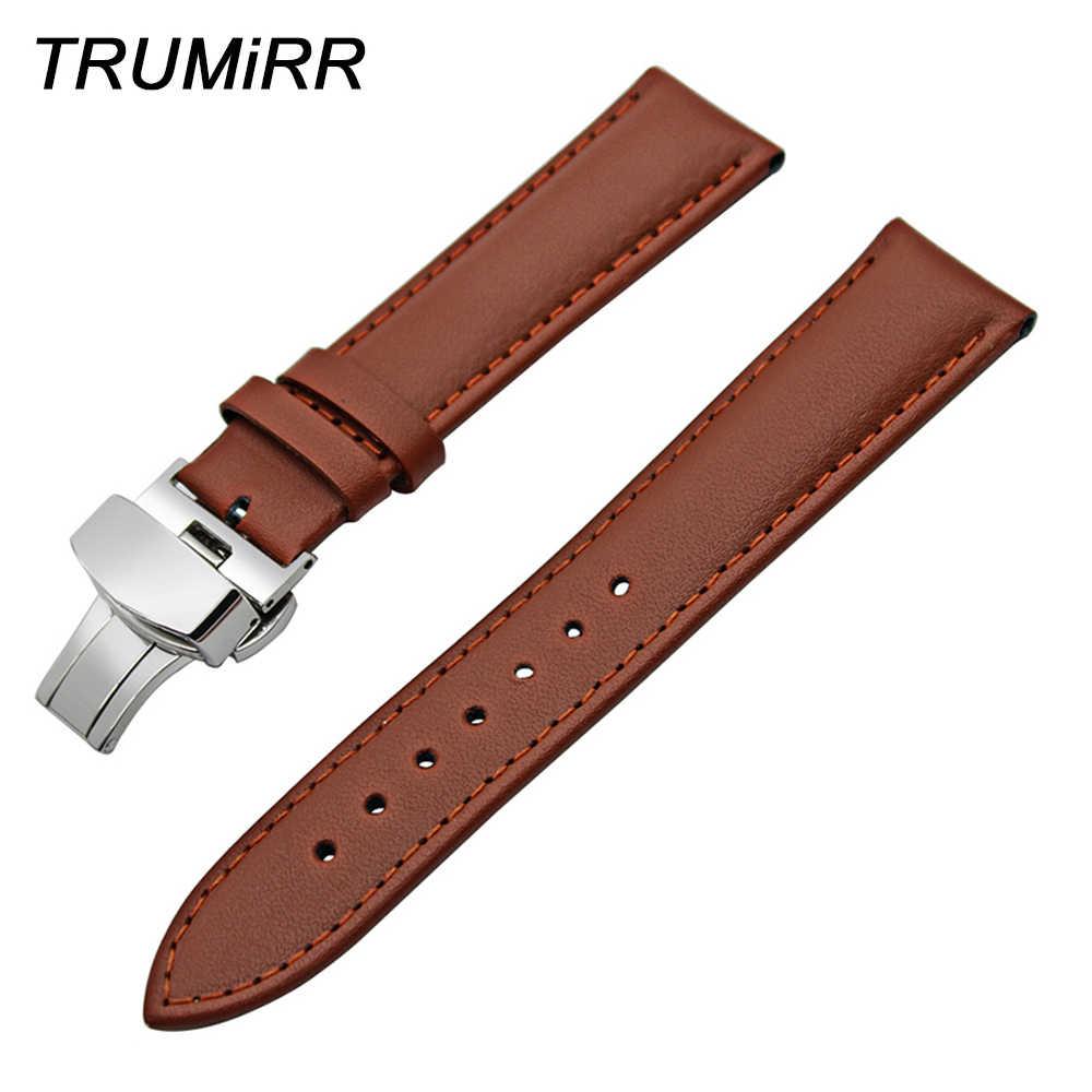 Ремешок из натуральной кожи для наручных часов мужской и женский браслет с