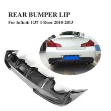 Carbon Fiber Rear Bumper Lip Diffuser Voor Infiniti G37 Base Sedan 4 Deur Dual Uitlaat Een Outlet Uitlaat Diffuser 2010 2013