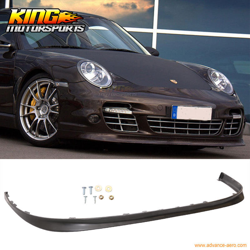 For 2006 2007 2008 2009 2010 2011 2012 Porsche 997 OE Style Filled / No Holes Front Bumper Lip Unpainted PU bort bab 14ux2li fdk