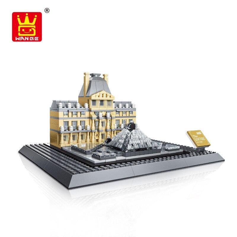 2017 New The Louvre Paris 3d Model Building Blocks Architecture Creator Series Classic Compatible Legoed House