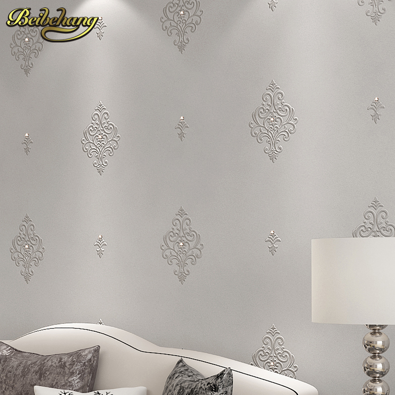 beibehang embroidery diamond papel de parede 3d stereoscopic wallpaper for walls 3 d wall papers home