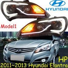 Hyunda Elantra headlight,2011~2013 (LHD,RHD need add 200USD),Free ship! Elantra daytime light,2ps/se+2pcs Aozoom Ballast,Elantra