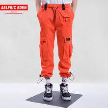 e5de2d1f0b6f9 Aelfric Eden Harajuku Vintage pantalones de carga 2018 para hombre Casual  Color sólido Streetwear Hip Hop moda botín pantalones .