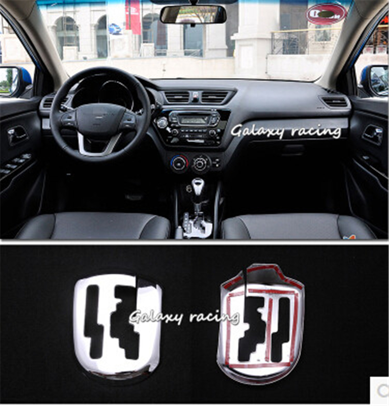 For KIA RIO K2 2011 2012 2013 AT gear stick shift car special post plating decoration model ABS chrome trim car accessories 1 pc цена