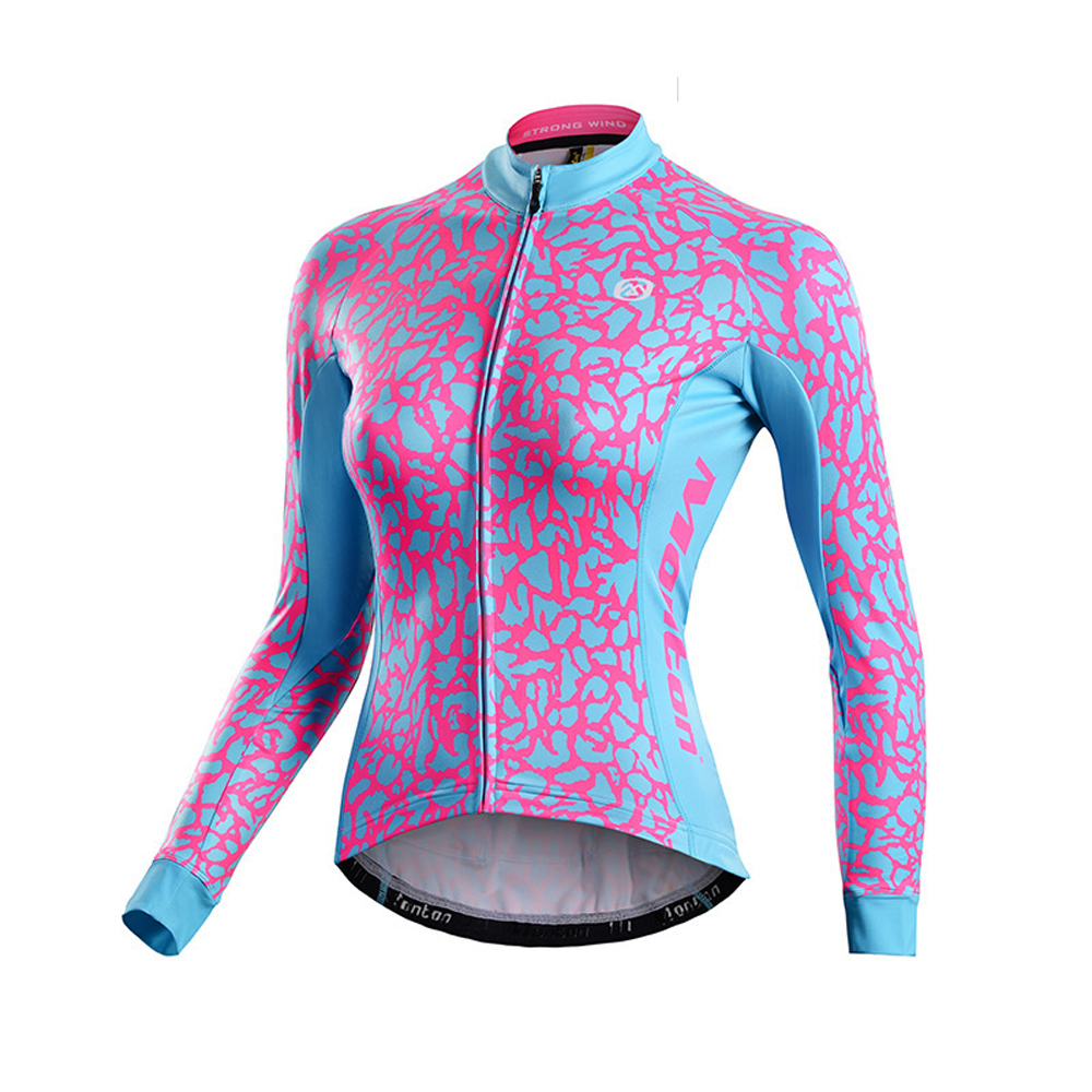 2015 New Women's Fleece Long Sleeve Cycling Jersey Winter Bike Shirt Bicycle Top Clothing 2016 new men s cycling jerseys top sleeve blue and white waves bicycle shirt white bike top breathable cycling top ilpaladin