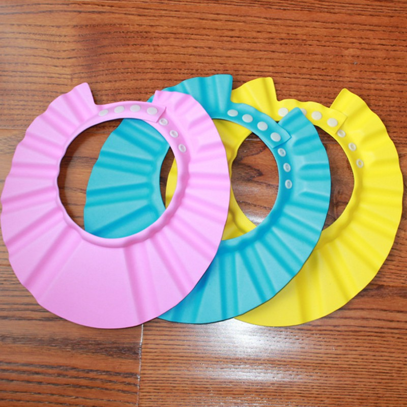 Adjustable Baby Shampoo Cap baby bath cap Hair Wash Shower Cap Ear Protection For Baby Bathing Accessories Soft Silicone Shower