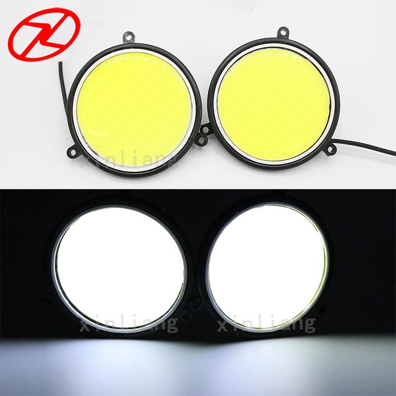 2PCS Super Parlaq LED DRL Gündüz işləyən Duman Sürmə - Avtomobil işıqları - Fotoqrafiya 1