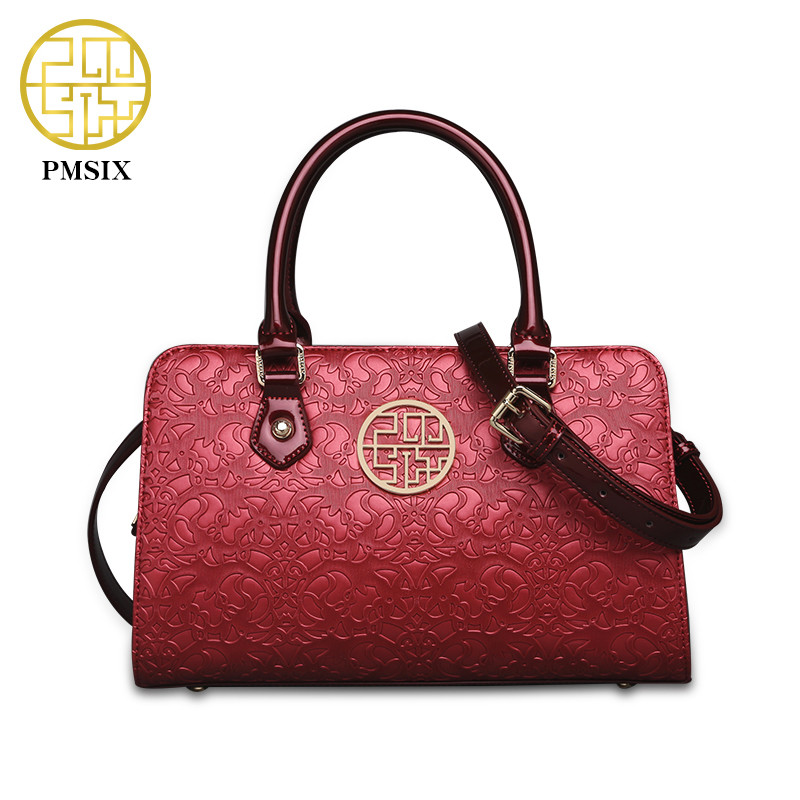Pmsix 2018 Brand New Retro Women Messenger Bags Vintage Shoulder Bag red black purple color handbag desigual Feminina Bolsas pmsix 2018 new autumn