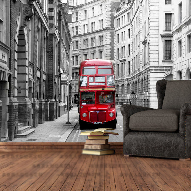 Buy custom photo wallpaper london city for Designer mural wallpaper