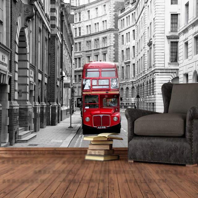 Individuelle fototapeten London City Urban Tapete 3D Designer Wand wandbild  Red Bus Schlafzimmer wohnzimmer Kinderzimmer dekor Hause kunst