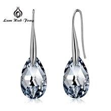 925 пробы серебряные серьги Модные AAA кубический циркон Висячие серьги для женщин прозрачный камень свадебные ювелирные изделия с фабрики