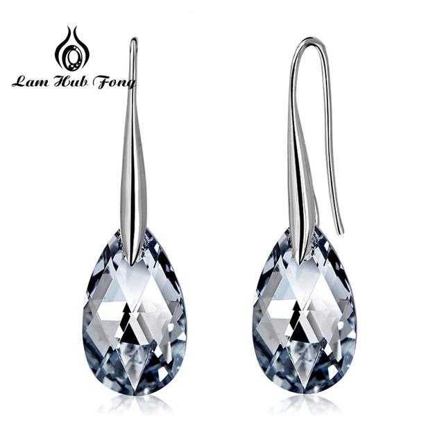 925 Sterling Silver Earrings Fashion AAA Cubic Zircon Drop Earrings for Women Clear Stone Wedding Jewelry Factory Wholesale