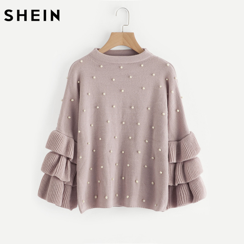 SHEIN Loose Jumper Long Sleeve Women Sweaters and Pullovers
